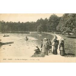 PARIS XVI° Le Lac du Bois de Boulogne 1921