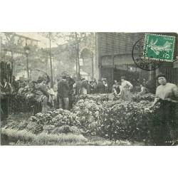 PARIS 01. Les Halles avec le Carreau avec Choux et Poireaux 1909