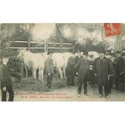PARIS Exposition. Concours Salon Agricole visite de Ruau Ministre de l'Agriculture 1908