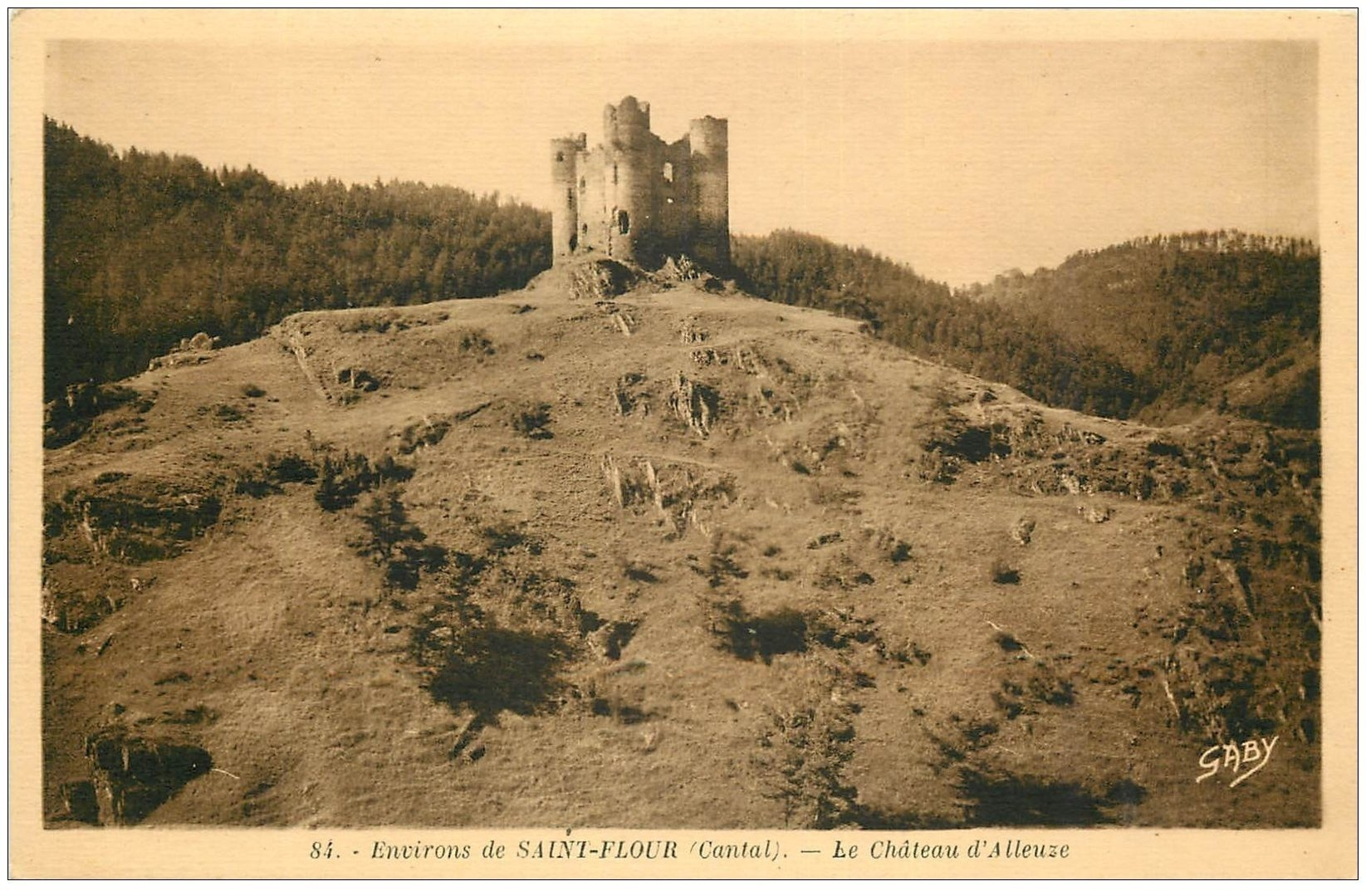 carte postale ancienne 15 ALLEUZE. Le Château près de Saint-Flour