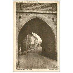 carte postale ancienne 01 Chatillon-sur-Chalaronne. Voûte Porte de Villars 1946
