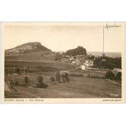 carte postale ancienne 15 APCHON. Vue du Village 1949