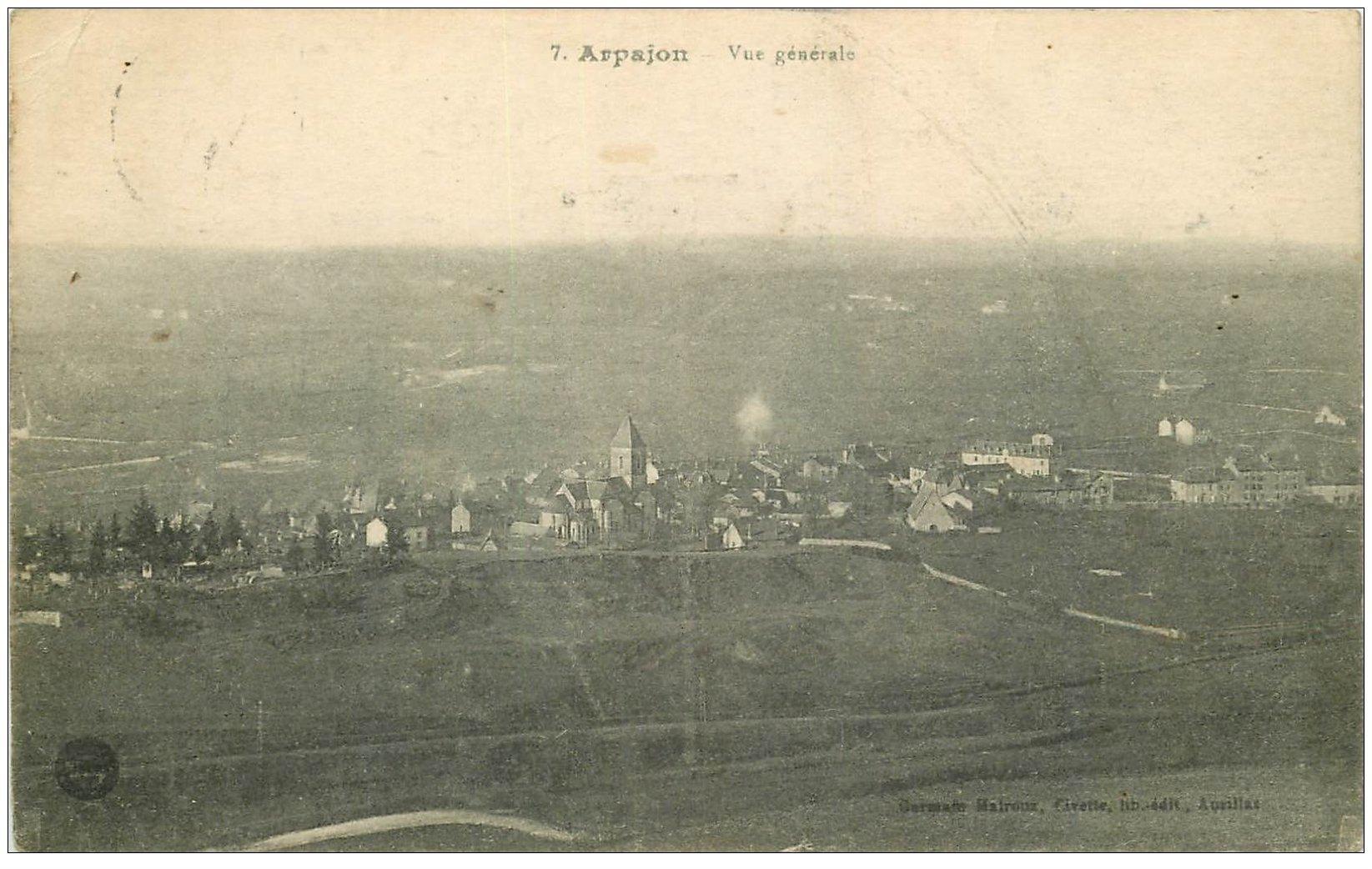 carte postale ancienne 15 ARPAJON. Vue générale