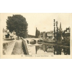 2 x cpa 41 VENDOME. Pont Saint-Michel, le Loir et la Madeleine 1926