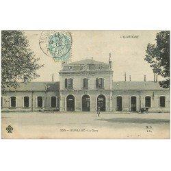 carte postale ancienne 15 AURILLAC. La Gare 1905