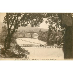 24 GROLEJAC le Château. Vue sur la Dordogne