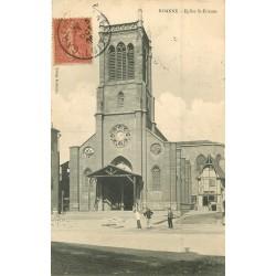 2 x Cpa 42 ROANNE. Eglise Saint-Etienne 1906 et Pont Villerest