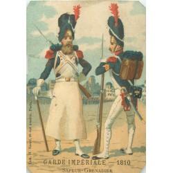 CHROMO CHOCOLAT POULAIN * SAPEUR-GRENADIER * Garde Impériale 1910 10.5 x 6.5 cm