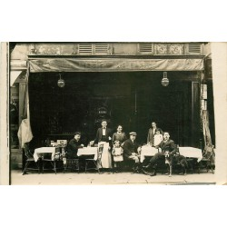 "Rare Photo Cpa PARIS XVIII° Café Charny L. "" Bière Dumesnil "" 93/95 rue Duhesme"