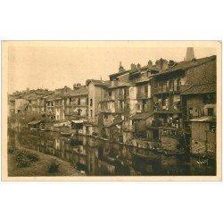 carte postale ancienne 15 AURILLAC. Maisons en bordure de la Jordanne
