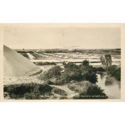 85 ILE DE NOIRMOUTIER. Un Marais Salant avec mulons de Sel