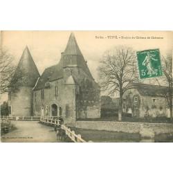 72 TUFFE. Donjon du Château de Chéronne 1913 avec biquette