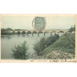 47 AGEN. Le Pont de Pierre 1904