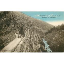 48 MARJEVOLS. Voiture sur Vallée de l'Enfer avec Porte et Gouffre 1928