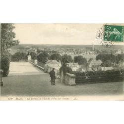 3 x Cpa 41 BLOIS. L'Evêché. Animation sur la Terrasse 1908, Vienne & Loire et Promenade 1928