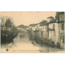 carte postale ancienne 15 AURILLAC. Vue prise du Pont Bourbon vers 1900