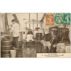 carte postale ancienne 15 CAPTAL. Fabrication du Fromage et malaxage du Beurre 1929. Vieux métier Artisanal