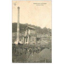 carte postale ancienne 15 CHAMPAGNAC-LES-MINES. Le Four à Coke