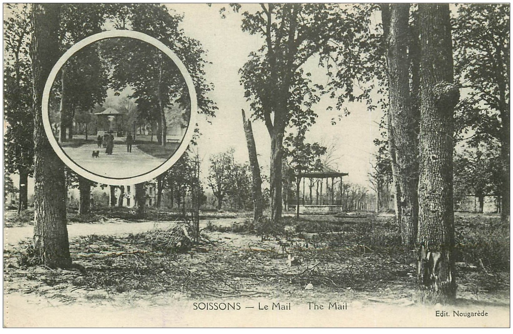 carte postale ancienne 02 SOISSONS. Le Mail 1923