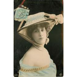 """REUTLINGER. Spectacles, comédienne, chanteuse et actrice """" L. DE POUGY """" 1908"""