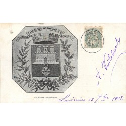 59 LANDRECIES. Blason Armoiries les Armes de la Ville 1903