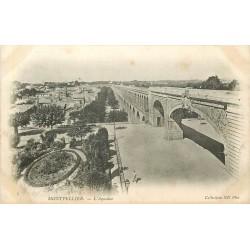 2 x Cpa 34 MONTPELLIER. Aqueduc et Glacier rue Maguelonne