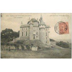 carte postale ancienne 15 Château de COUZANS près Antignac 1906 (défaut)... vendue en l'état.