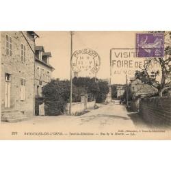 61 BAGNOLES-DE-L'ORNE. Rue de la Mairie vers Tessé la Madeleine 1928
