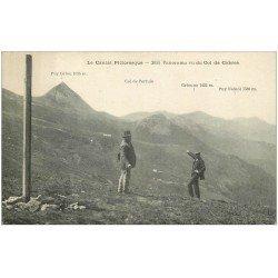 carte postale ancienne 15 Col de Cabres. Panorama 1922