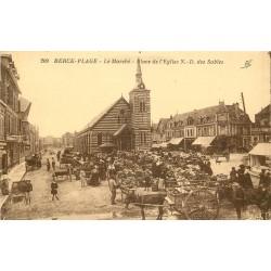 62 BERCK-PLAGE. Le Marché Place de l'Eglise Notre-Dame des Sables