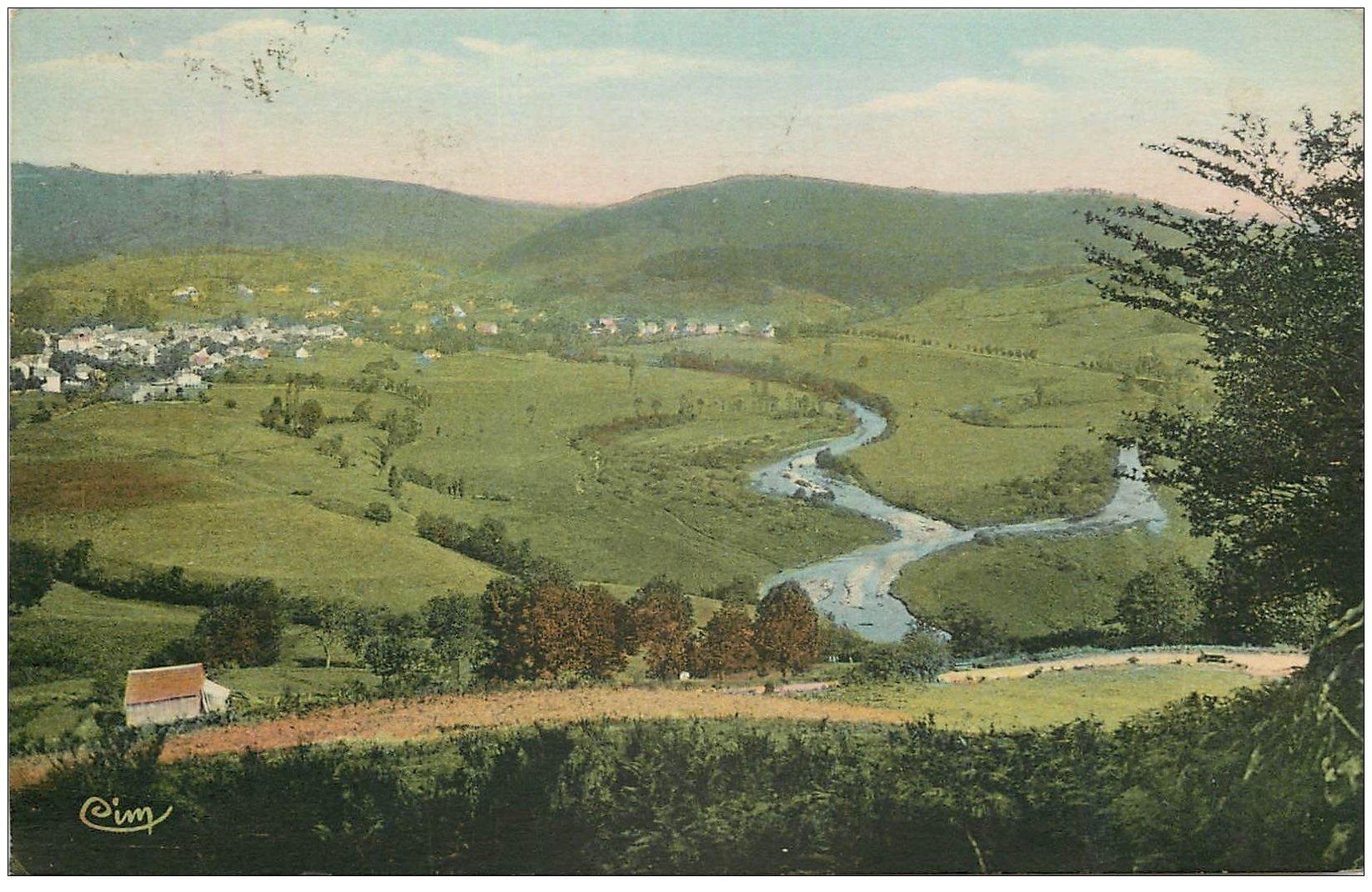 carte postale ancienne 15 CONDAT-EN-FENIERS. Pré de Board 1936