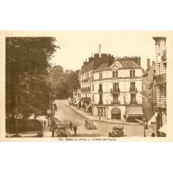 2 x Cpa 41 BLOIS. Voitures anciennes Hôtel de France, rues Gallois et Porte-Côté