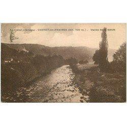 carte postale ancienne 15 CONDAT-EN-FENIERS. Vallée de la Rhue vers 1927