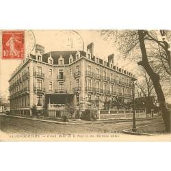 2 x Cpa 64 SALIES-DE-BEARN. Hôtel du Château et Hôtel de la Paix avec les Thermes salins 1914
