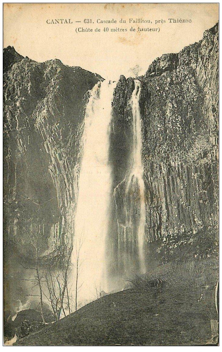 carte postale ancienne 15 FALHITOUX ou FAILLITOU. La Cascade près Thiézac