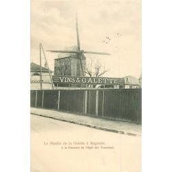 93 BAGNOLET. Le Moulin de la Galette à la Descente du Dépôt des Tramways 1905