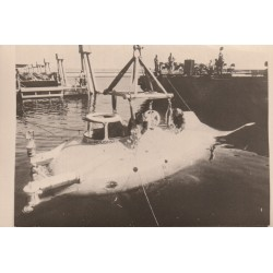 "Rare PHOTOGRAPHIE Bathyscaphe sous-marin le Beauer IV version "" ROUGHMECK """