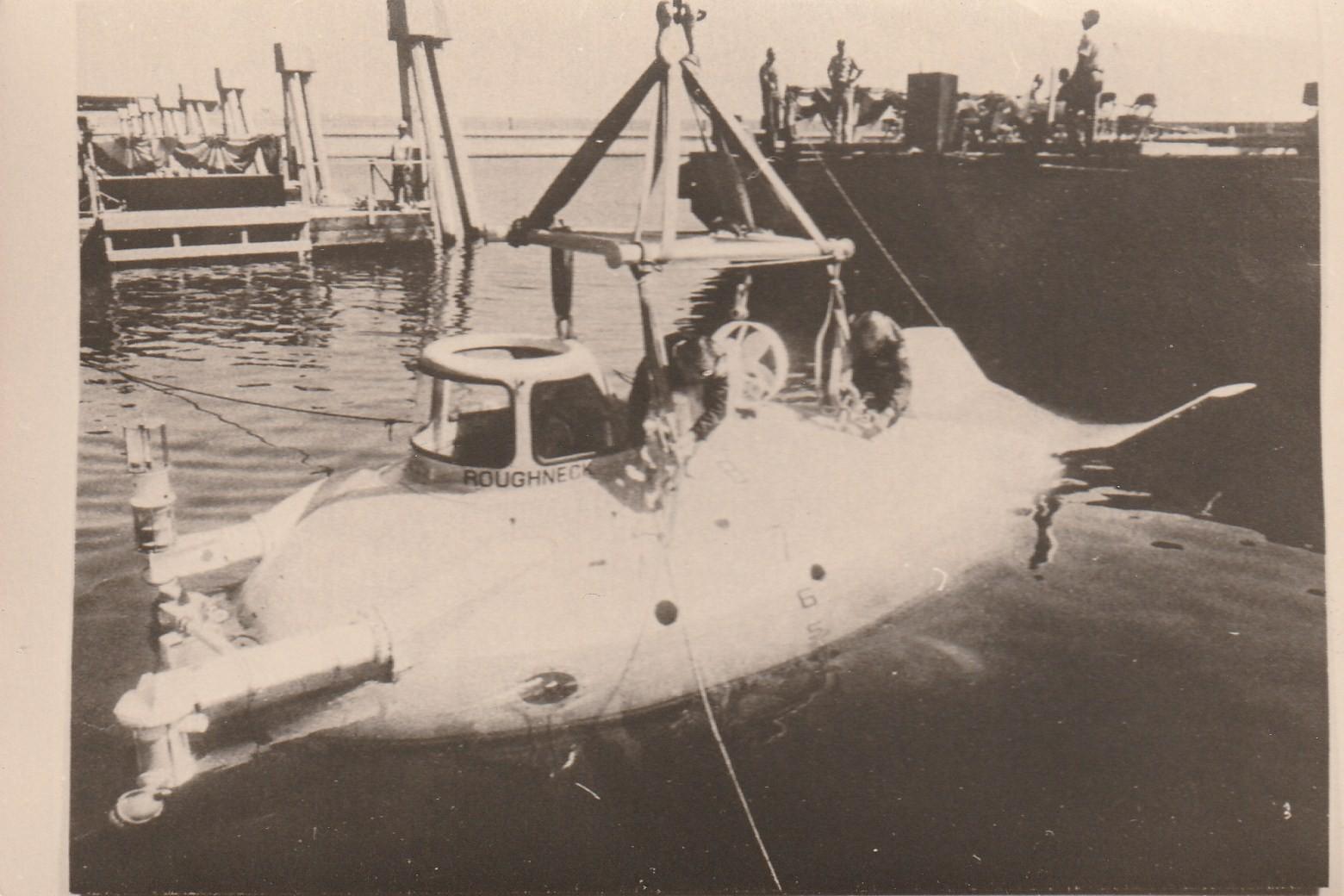 """Rare PHOTOGRAPHIE Bathyscaphe sous-marin le Beauer IV version """" ROUGHMECK """""""