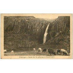 carte postale ancienne 15 FALHITOUX ou FAILLITOU. Pâturage avec Moutons 1938