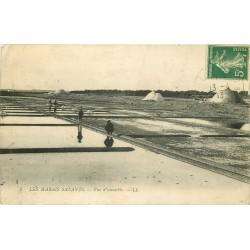 44 LE CROISIC. Paludiers et Mulons de Sel dans les Marais Salants 1913