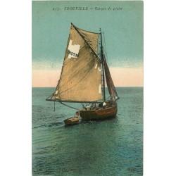 14 TROUVILLE. Barque de Pêche en pleine Mer 1921