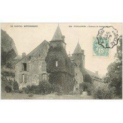 carte postale ancienne 15 FONTANGES. Château de Lamargé 1905