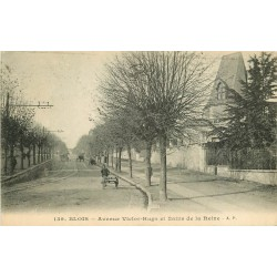 2 x Cpa 41 BLOIS. Bains de la Reine et Ecole avenue Victor-Hugo 1919
