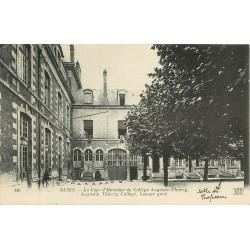 2 x Cpa 41 BLOIS. Collège Augustin-Thierry Cour et façade 1922