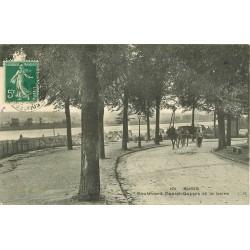 2 x Cpa 41 BLOIS. Attelage sur le Boulevard Daniel Dupuis 1913