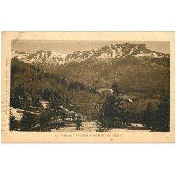 carte postale ancienne 15 La Vallée de Font Alagnon en Hiver 1935