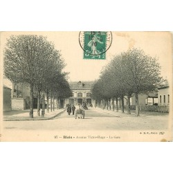 3 x cpa 41 BLOIS. La Gare 1910, les fiacres et le chemin de fer Avenue Victor-Hugo