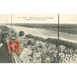 3 x cpa 41 BLOIS. Panorama 1911, Quartier du Foix et Pont 1905