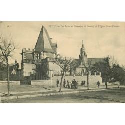 2 x Cpa 41 BLOIS. Bains de Catherine de Médicis et Eglise Saint-Vincent 1909