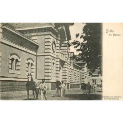 41 BLOIS. Le Haras avec Lads et Chevaux 1908
